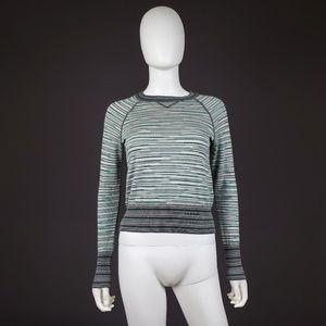 Missoni 4 Crewneck Raglan Stripe Pullover Sweater